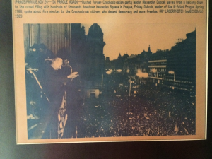 AP Wire Photo November 24, 1989 Alexander Dubcek